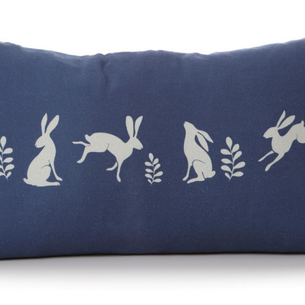 Hare Cushion Blue Front