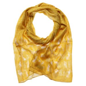 Hare Scarf - Yellow
